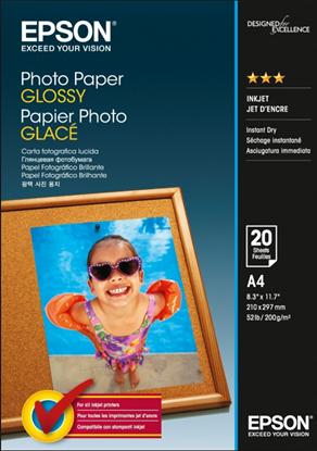 Зображення Бумага Epson A4 Photo Paper, (25л, 200г/м2, глянцевая, для повседневной струйной фотопечати)